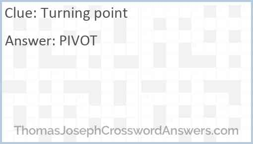 Turning point Answer