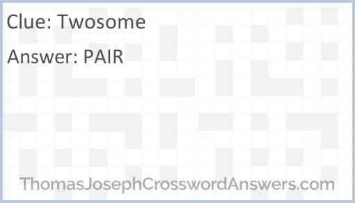 Twosome Answer