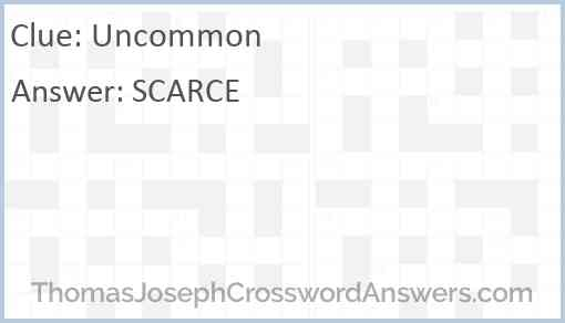 Uncommon Answer