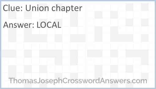 Union chapter Answer
