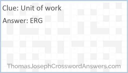 Unit of work Answer