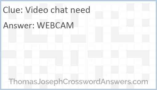 Video chat need Answer