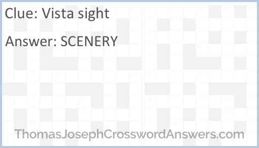 Vista sight Answer