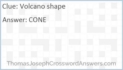 Volcano shape Answer