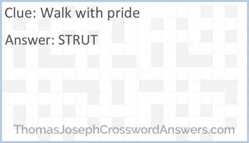 Walk with pride Answer