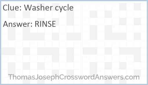 Washer cycle Answer