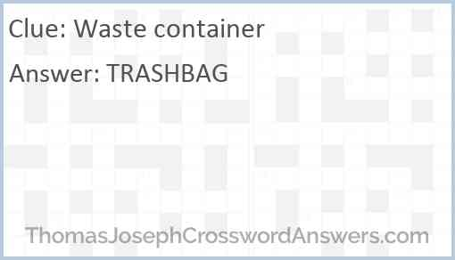 Waste container Answer