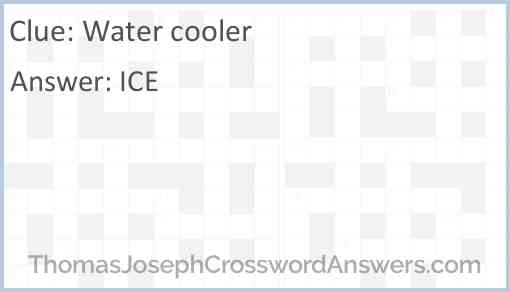 Water cooler Answer