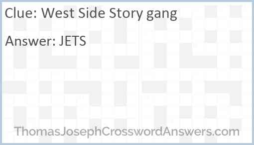 """""""West Side Story"""" gang Answer"""