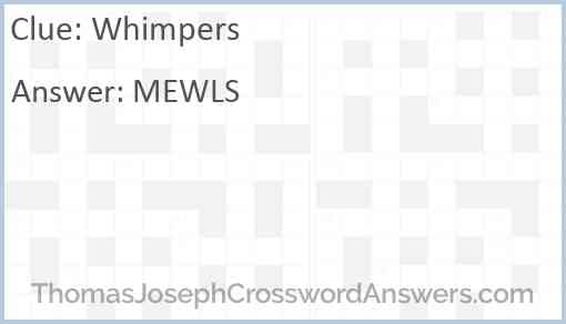 Whimpers Answer