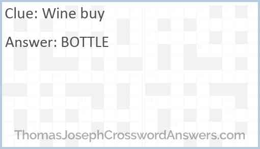 Wine buy Answer