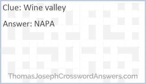 Wine valley Answer