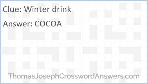 Winter drink Answer