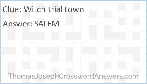 Witch trial town Answer