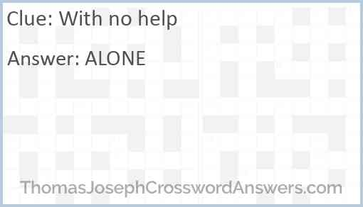 With no help Answer