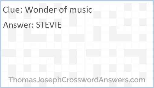 Wonder of music Answer