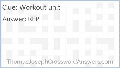 Workout unit Answer