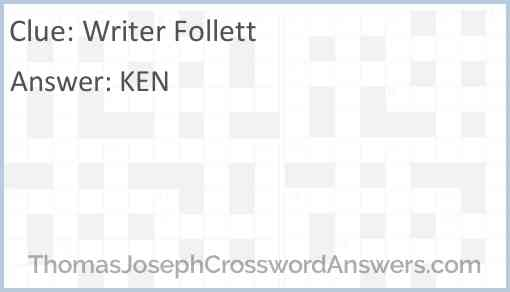 Writer Follett Answer