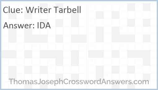 Writer Tarbell Answer