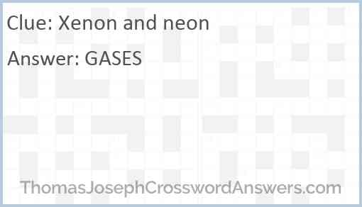 Xenon and neon Answer