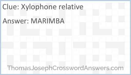 Xylophone relative Answer