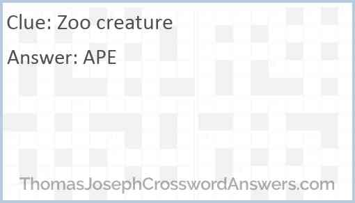 Zoo creature Answer