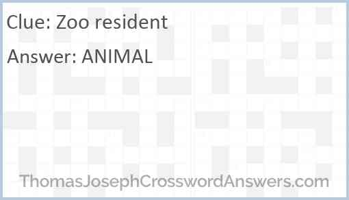 Zoo resident Answer